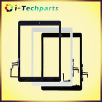Wholesale Good quality A High quality Touch Digitizer Screen with Original Home Button and Adhesive for iPad Air Black White