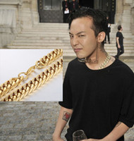 Wholesale BC GD K Gold Plated Necklace Men Jewelry Colors MM Wide Chain Necklace Made by Stainless Steel