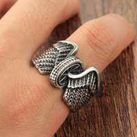 american motorcycle tires - Men s Stainless Steel Motorcycle Tire Wings Punk Vintage Style Band Ring Size Avivahc
