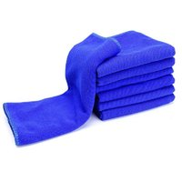 Wholesale 40 CM Blue Absorbent Wash Cloth Car Auto Care Microfiber Cleaning Towels E00034 FAH
