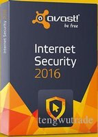 Wholesale 2016 Avast Internet Security year software license key file send by email only the key no box no CD
