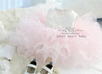 baby cupcake clothing - Baby Toddler Pageant Clothes Sequins Lace Organza sash cupcakes little kids mini skirt formal occasion ball gown F160818