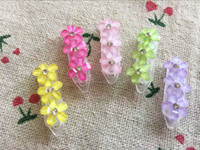 Wholesale New Pet dog cat hair flower mix Cute Dog headdress Dog hairpin plasic clip pet grooming