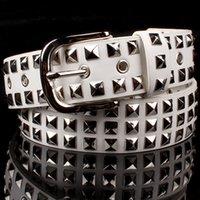 belts rock bands - Fashion Personality Men s Leather Belt Waistband Stage Wear Rock Punk Belt The band DJ DS Rrivet Leather Belt Motorcycle Belt