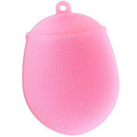 baby scrub brush - Bath Brushes Washing Hair Massage glove Brush Comb Scalp Shower Body cleaning Scrub Skin Back Head Silicone balls for adult baby
