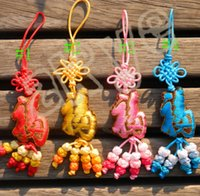 Wholesale Hot Sale Chinese knot good luck Hand embroidery Hand embroidery Tourism memorial gift Car Pendant