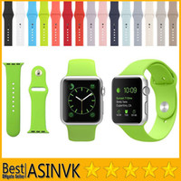 band clips - For Apple Watch mm mm Original Design Silicone Band With Connector Adapter Clip for iPhone iWatch Sport Buckle Bracelet