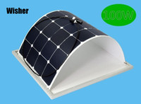 automobile sunroof - 100W semi flexible monocrystalline solar panel very slim sunpower for sunroof outdoor Diy RV Car Boat V battery energy saving
