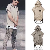 big bang hoodie - Streetwear big bang kpop fear of god kanye designer beige green M XXL mens fashion clothing short sleeve hoodies hiphop clothes