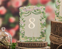 Wholesale Place cards for Wedding Laser Cut Flower Wedding Table Number Cards Romantic Place Card Wedding Supplier