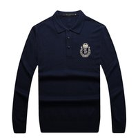Wholesale Billionaire italian couture men s sweater New Fashion Business Casual trend embroidery turn down collar