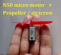 Wholesale 5pairs N50 V V RPM Stonger Magnetic High Speed Motor Model Aircraft Motor Micro Motor mm Propellers