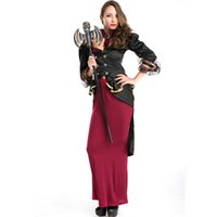 Wholesale Sexy Costumes For Role Play - New Arrival Adult Halloween Gothic Vampire Cosplay Costume for Women Sexy Witch Stage Role Play Costume Outfits A158733