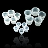 Wholesale each Size S M L disposable ink caps mixed plastic cups tattoo supplies pigment holders tattoo supplies