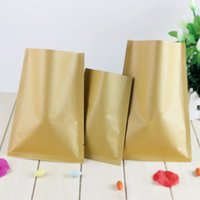 Wholesale DHL cm Open Top Party Kraft Paper Aluminum Foil Food Coffee Storage Packaging Bags Heat Seal Mylar Package Pouch