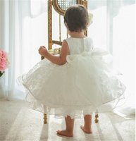Wholesale Summer New Baby Clothes Children Girls Wedding Party Lace Flowers Sleeveless Princess TuTu Dress Kids Dresses For Girl
