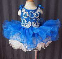 baby dancers - Infant Baby Toddler Pageant Clothing Knee Length Sleeveless Beads Jewel Flower Girl Dresses Birthday Wedding Dancer Wear F1662