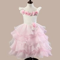 Wholesale 2015 Spring Flower Girl Dresses Baby Girl Birthday Party Christmas Communion Dresses Children Girl Party Dresses