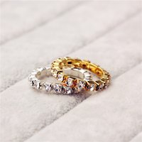 Wholesale Elastic Stering Silver single Row CZ Crystal toe ring mm