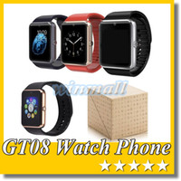 Wholesale A Quality GT08 Bluetooth Smart Watch Phone Smartwatch with Camera SIM Slot D Watch A1 For Apple SAMSUNG Android Smartphone DZ09 U8