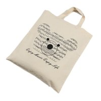 bear element - Music Element Bag Pure Cotton Tote Bag Shopping bags Music Bear