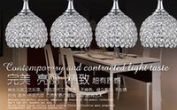 Wholesale Crystal chandeliers restaurant restaurant lights glass dining table lamp lights creative bar LED pendant lamps