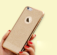 Wholesale 2016 Luxury Bling Electroplating Glitter Phone Case Soft TPU Cover For Iphone s plus s SE DHL free