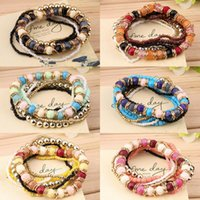 beaded jewllery - Hot Women Stretch Mix Multilayer Beads Bracelet Elastic Bangle Jewllery Wedding Accessories