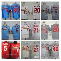albert fashion - 2015 Fashion New St Louis Cardinals Bob Gibson Jerseys Allen Craig Albert Pujols Lou Brock Baseball Jersey Shirt