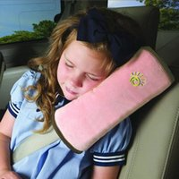 Wholesale Auto Car Soft Headrest Cushion Support Pillow Safety Seat Belt Harness Kids Children Shoulder Padding Vehicle Seatbelt Pad
