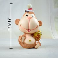 banks place - 2016 New Zodiac gifts home sitting room bedroom place New Year spirit monkey piggy bank children gifts