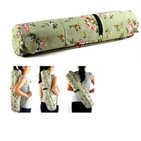 Wholesale High quality Canvas Practical Yoga Pilates Mat Bag Carry Strap Drawstring Sport Exercise Gym Fitness Backpack For mm Thick Mat