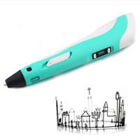 abs plastic tube - new D generation stereoscopic printing pen d drawing pen D digital Doodler pen Doodler ABS plastic tube with LCD Screen