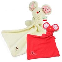 baby comforters wholesale - New pc Baby Comforter Toy Cute Cartoon Animal Soft Plush Multifunctional Saliva towel Baby Care