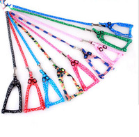Wholesale Dog leash Cute cartoon bone rope Adjustable for puppy kitten separable
