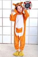 apartment animals - Mink flannel tracksuit cute cartoon animals children love apartment yellow Kangaroo soft and comfortable pajamas piece toilet Edition