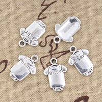 baby charm bracelet tibetan - Charms baby onesie coverall cloth mm Antique pendant fit Vintage Tibetan Silver DIY for bracelet necklace