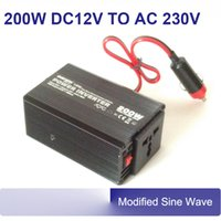 ac ce mark - 200w v to v ac to dc mini car power inverter with car fuse CE EMC LVD RoHS E mark approval CAR201