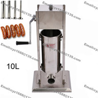 Wholesale L Home Sausage Stuffer Filler Stainless Steel Manual Vertical Sausage Maker Meat Processor Sausage Salami Maker
