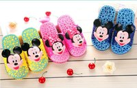 bathroom model home - New products children Slipper cute Mickey cartoon modelling kids slipper bathroom anti skid child home furnishing Slipper Girls shoes kids