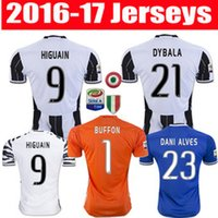 Wholesale 16 Thailand Quality Men s Juventus soccer jerseys Uniforms DYBALA HIGUAIN home away Soccer Jersey BUFFON MARCHISIO football shirts