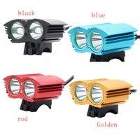 Wholesale A21 LED Bicycle Light XM L U2 LED Modes Dual Head Bicycle light LED Bike Front light Headlight Cycling Light Headlamps