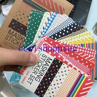 Wholesale Scrapbooking Washi Kit Basic Masking Tape Craft Stickers Pack Decorative Labelling Art Adhesives