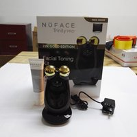 Wholesale 2016 Newest NUFACE Trinity PRO K Gold Facial Trainer kit Skin Care Treatment Device Face Massager Electric Roller Multi Functional