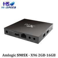 Wholesale Amlogic S905X X96 GB GB Android Marshmallow TV Box Quad Core KODI Pre installed H K HD MXQ Pro M8S