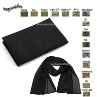 Wholesale Outdoor Equipment Airsoft Paintball Shooting Gear Face Neck Protection Headscarf Veil Neckerchief Tactical Tactical Airsoft Camouflage Scarf