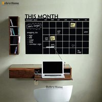art wall calendars - This Month Diy Monthly Chalkboard Creative Calendar Planner Memo Removable Vinyl Decorative Wall Decal Stickers Wallpaper