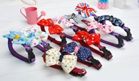 basic pcs - 20 Solid Pet Dog Neck Bow Tie Colorful Cat Dogs Headdress Adjustable Collars Leashes Apparel Christmas Decorations