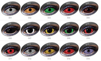 Wholesale 22mm sclera contact lens supernatural dean devil eye cos movie Halloween cosplay costume full eye contacts