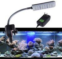 Wholesale Cree LED Aquarium Light LED Aquarium Led Lighting Decoration Fish Tank LED Light Mode White Blue Aquarium Clip Lights Bulb
